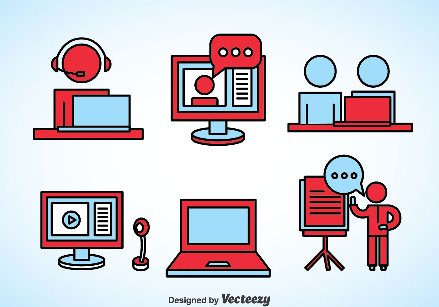 Webinar Element Icons - Download Free Vectors, Clipart ...