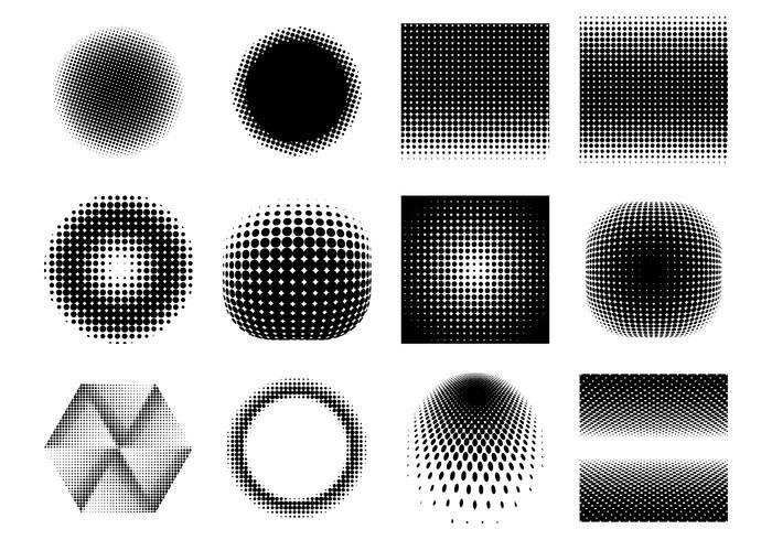Vetores de gradiente de meio-tom grátis
