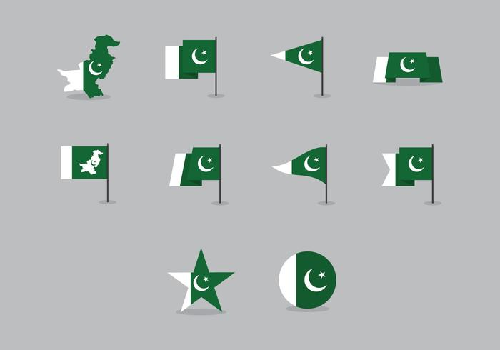 Vector Pakistan Flag Pack
