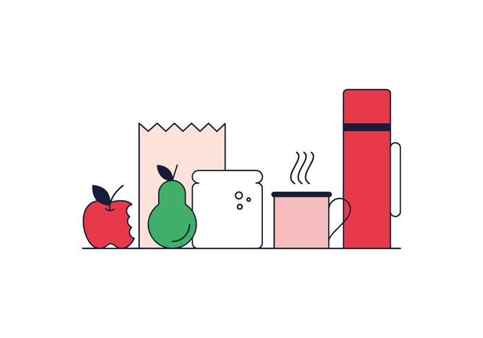 Lunch Vector