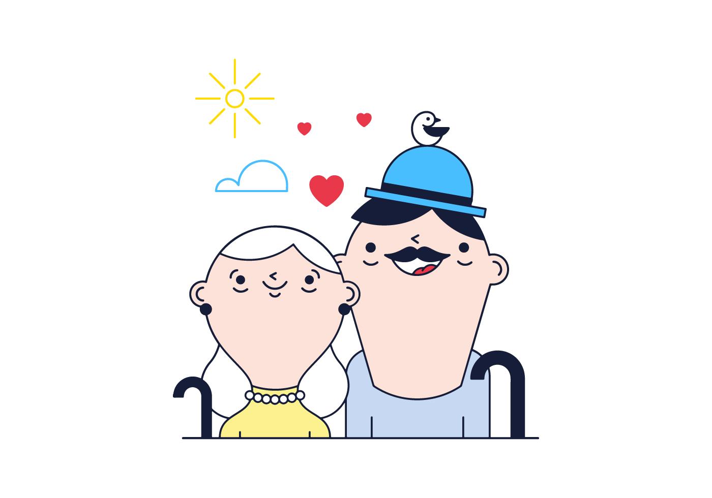 Free Grandparents Vector Download Free Vector Art Stock
