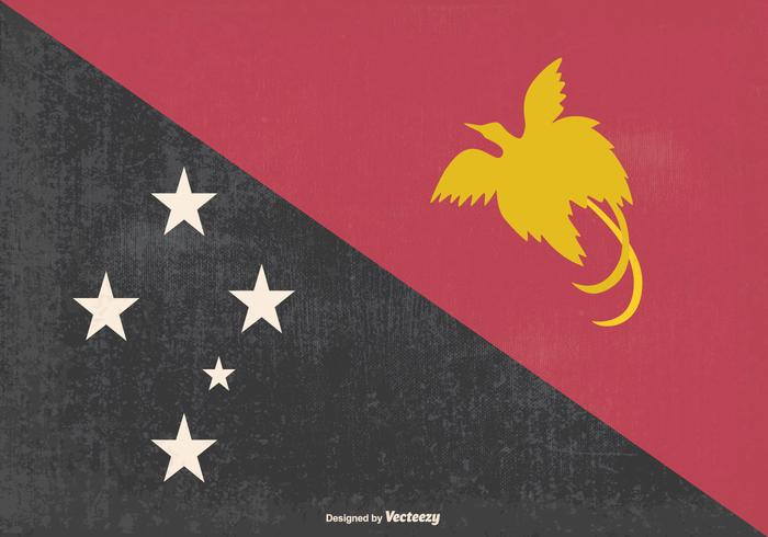 Old Papua, New Guinea Flag Illustration
