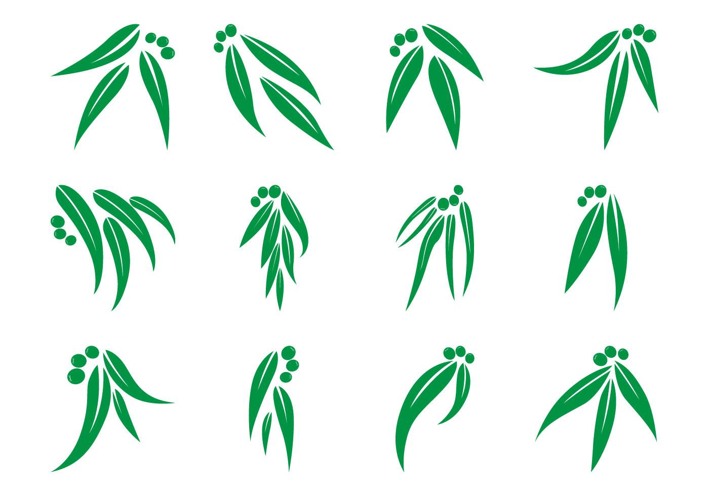 Vector Cartoon For Free Download About 5 514 Vector: Eucalyptus Leaf Logo Vector