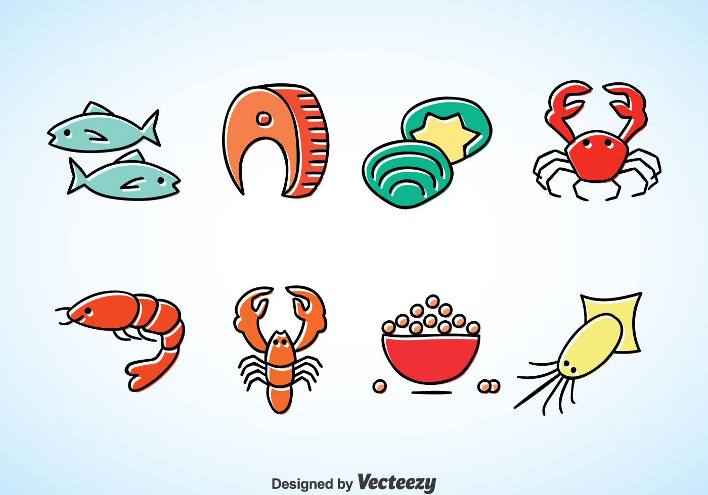 seafood cartoon vector download free vector art  stock Simple Fish Clip Art Fish Liver Oils Clip Art