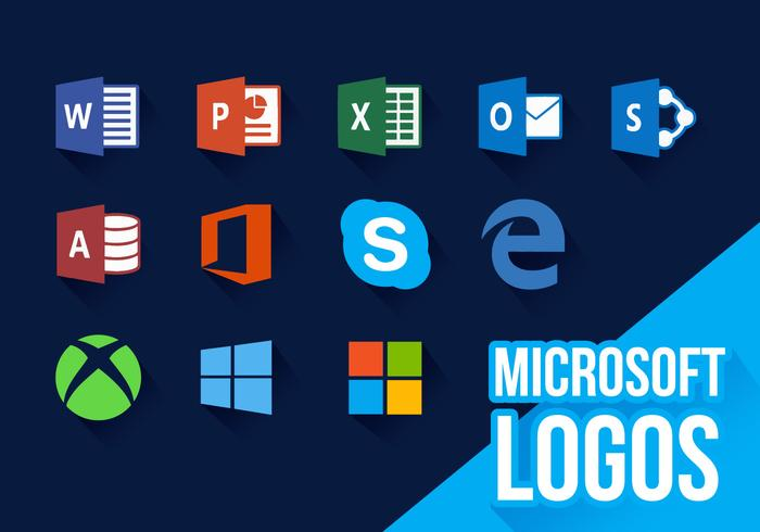 Microsoft Icons New Logos Vector