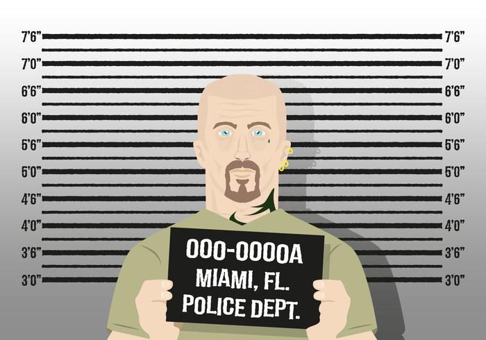 Mugshot Background Character Police Vector