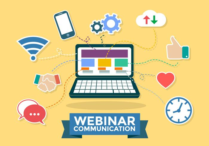 Webinar Communicatie Infographic Vector