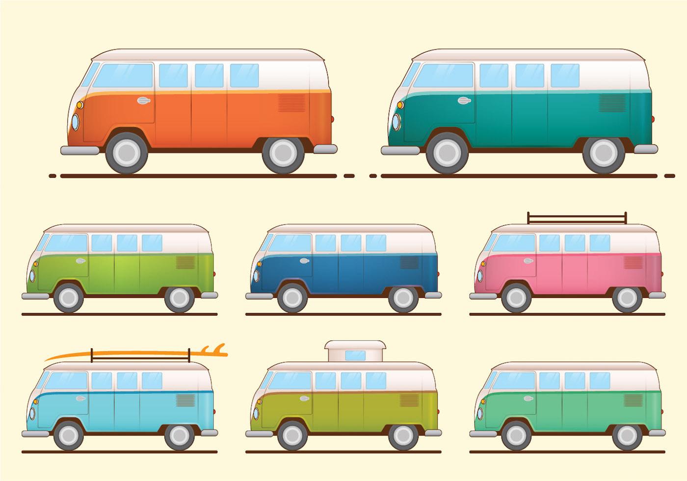 Van Free Vector Art 13942 Free Downloads