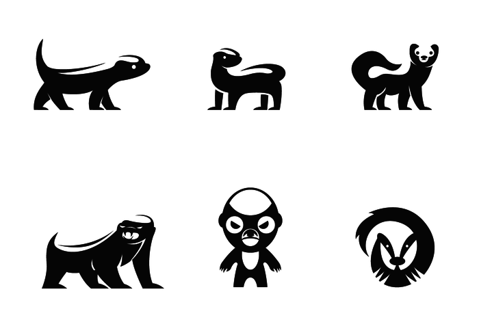 Vector de logo Honey Badger gratuit