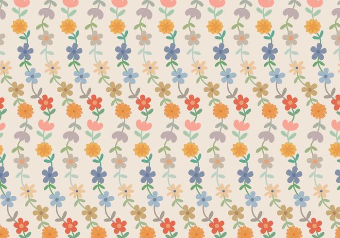 Padrão De Pastel De Flores