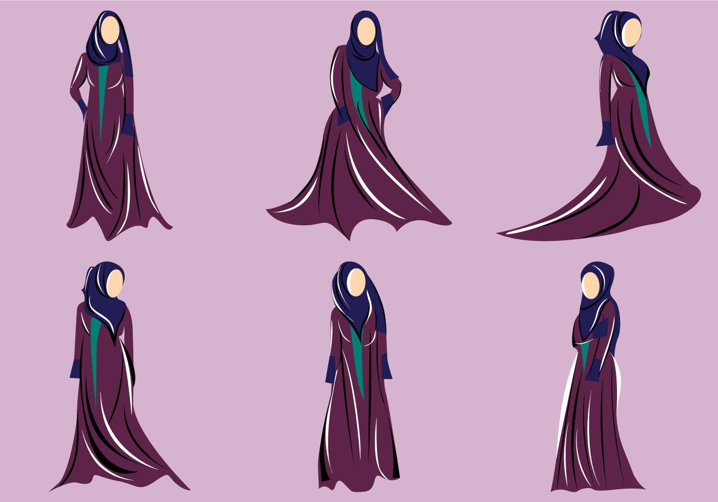 Abaya Vector Download Free Art Stock Graphics Images Hitam Arab Gold