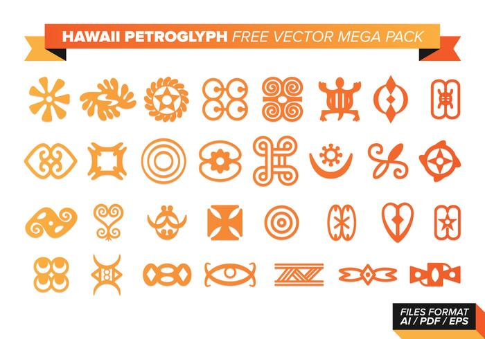 Hawaii Petroglyph Free Vector Mega Pack