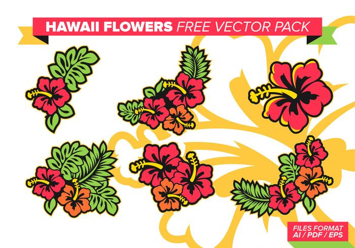 Hawaii Flowers Free Vector Pack