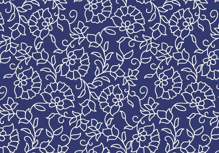 Outline Floral Pattern