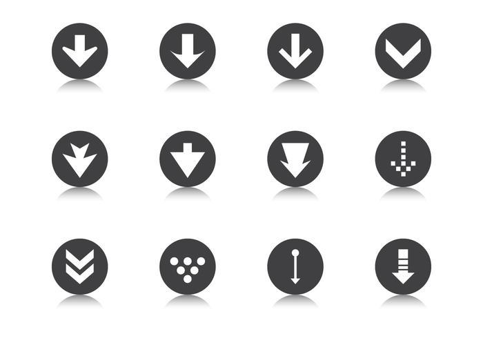 Down Grade Pfeil Button Vector Pack