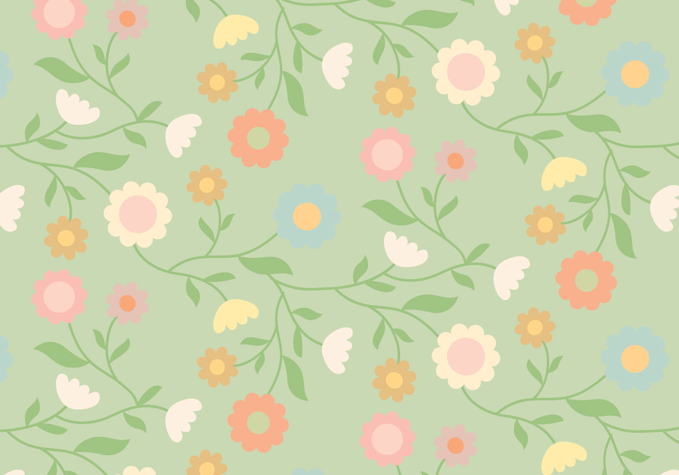 Vintage Floral Pattern - Download Free Vector Art, Stock ...