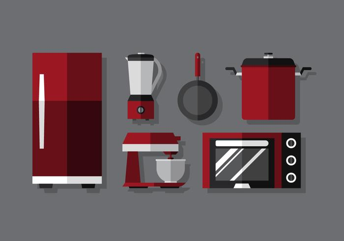 Vector Cooking Set