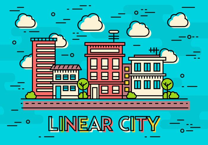 Teal Flat Linear Design Vector Image Concept
