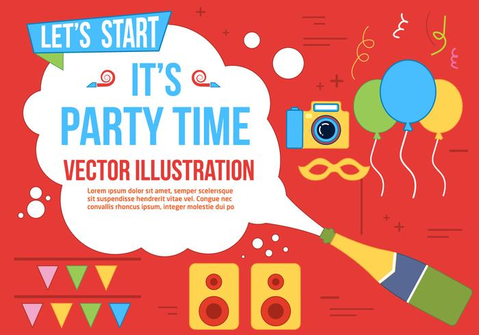 Free Party Time Vector