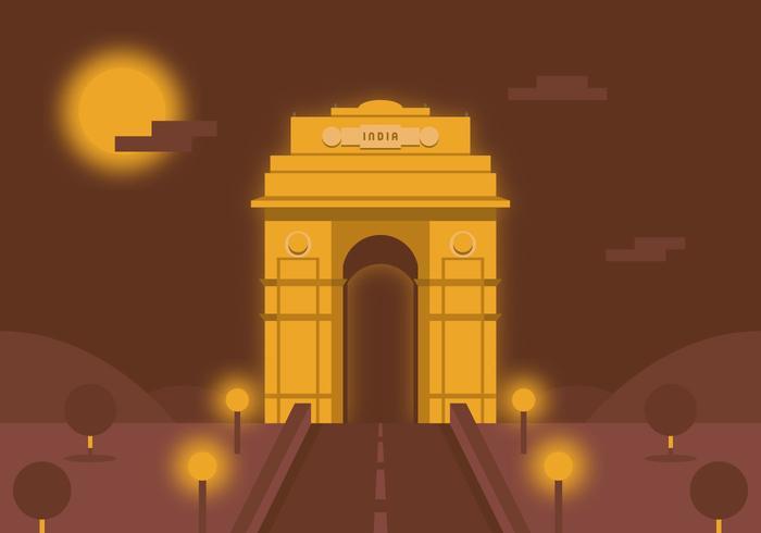 Vector de la puerta de la India