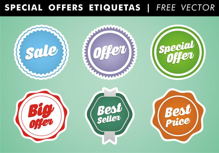 Ofertas especiais Etiquetas Free Vector