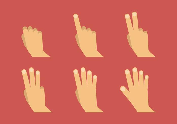Symboles de main à vecteur