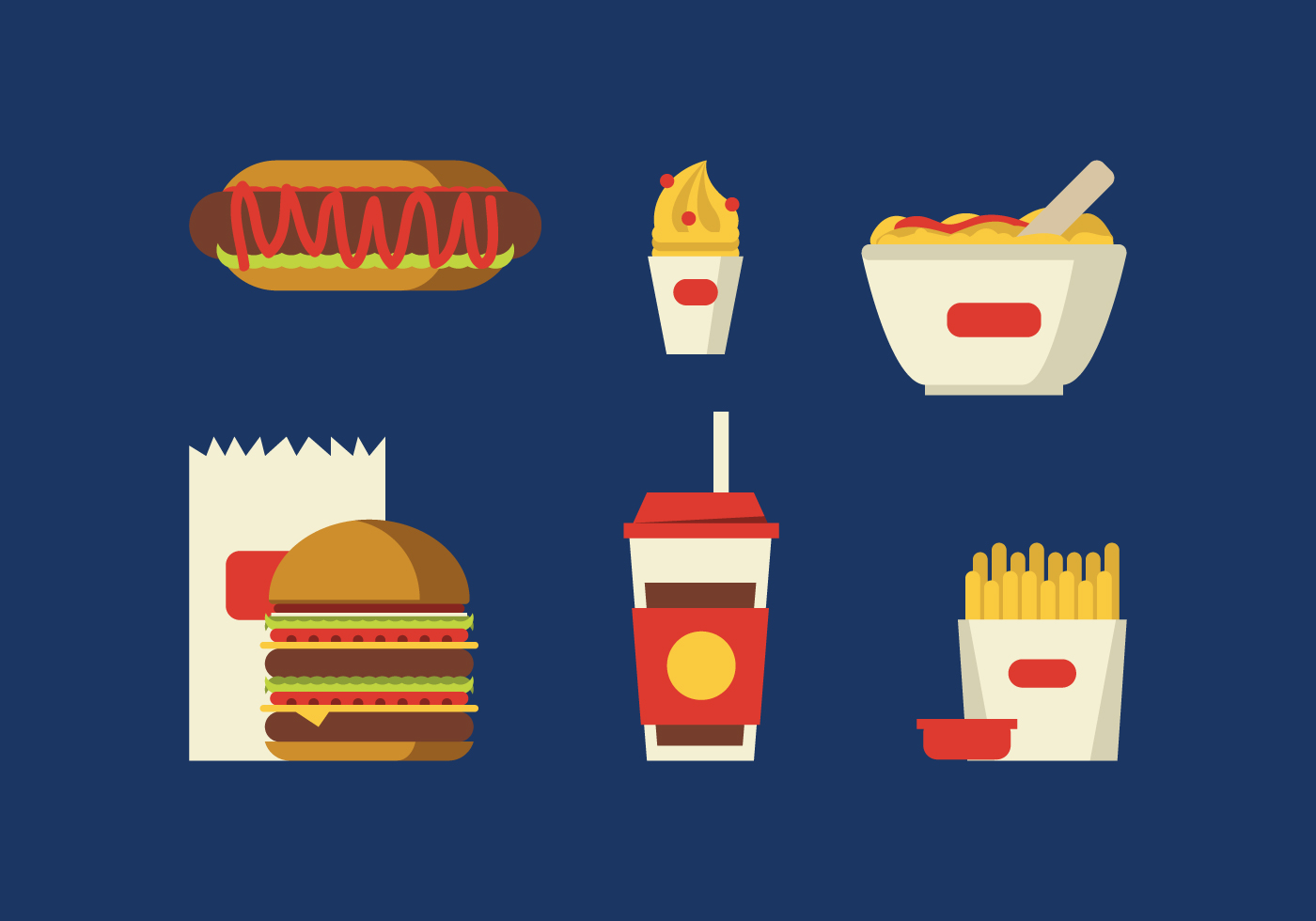 Vector Fast Food - Download Free Vectors, Clipart Graphics ...