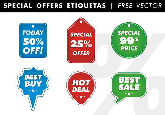 Special Offers Etiquetas Vector