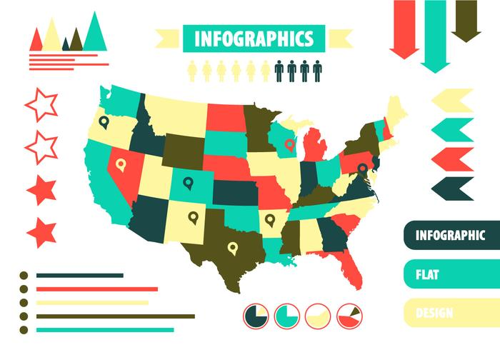 Free Vector US Infographics