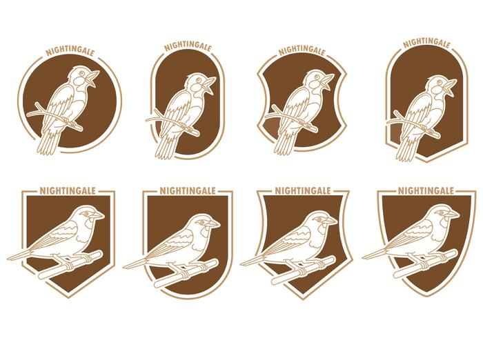 Set Of Nightingale Badges vector
