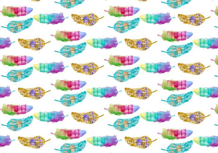 Padrão grátis Aquarela Bohemian Feather