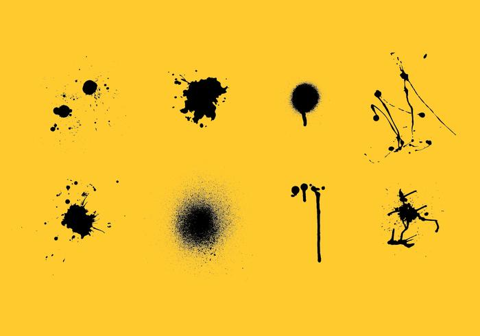 Spraypaint drips vector pack