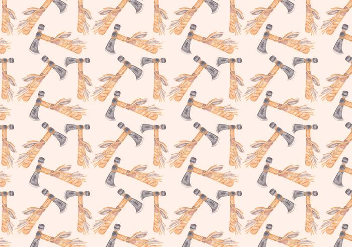 Free Vector Watercolor Axe Pattern