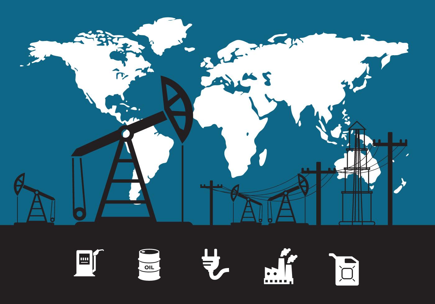 Oil Field Vector Download Free Vector Art Stock