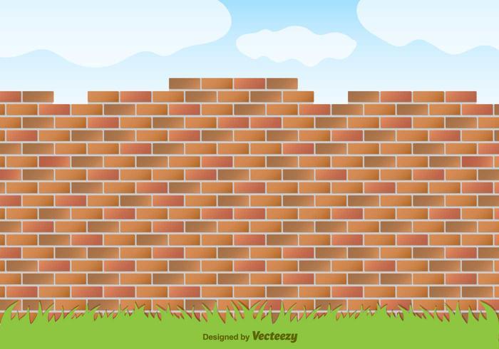 Vector Red Brick Wall