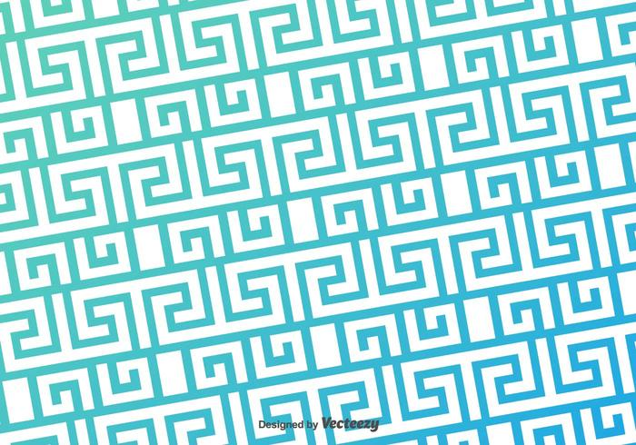 Grec Key Blue Pattern Vector Background