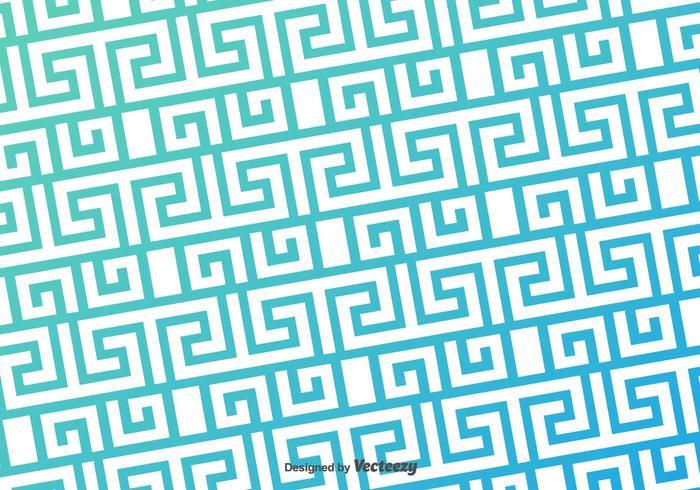 Greek Key Blue Pattern Vector Background