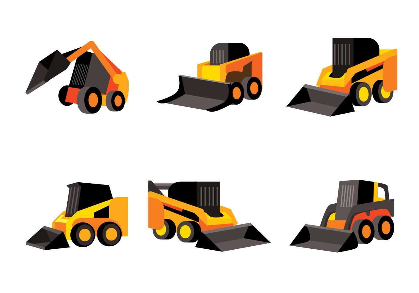 Skid Steer Vector - Download Free Vectors, Clipart Graphics & Vector Art