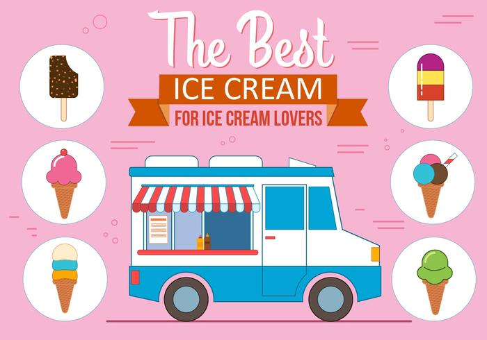 Gratis Ice Cream Vector Set
