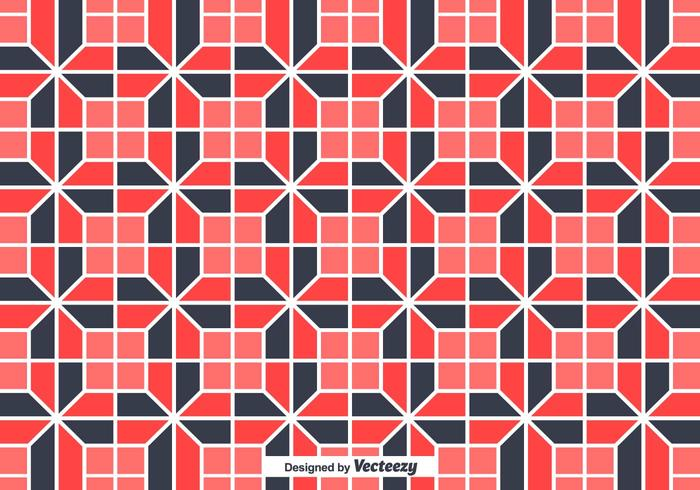Tiles With Geometrical Random Shapes Vector Background