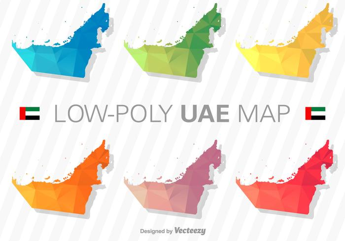 United Arab Emirates Map Silhouette Vector Set - Download Free ...
