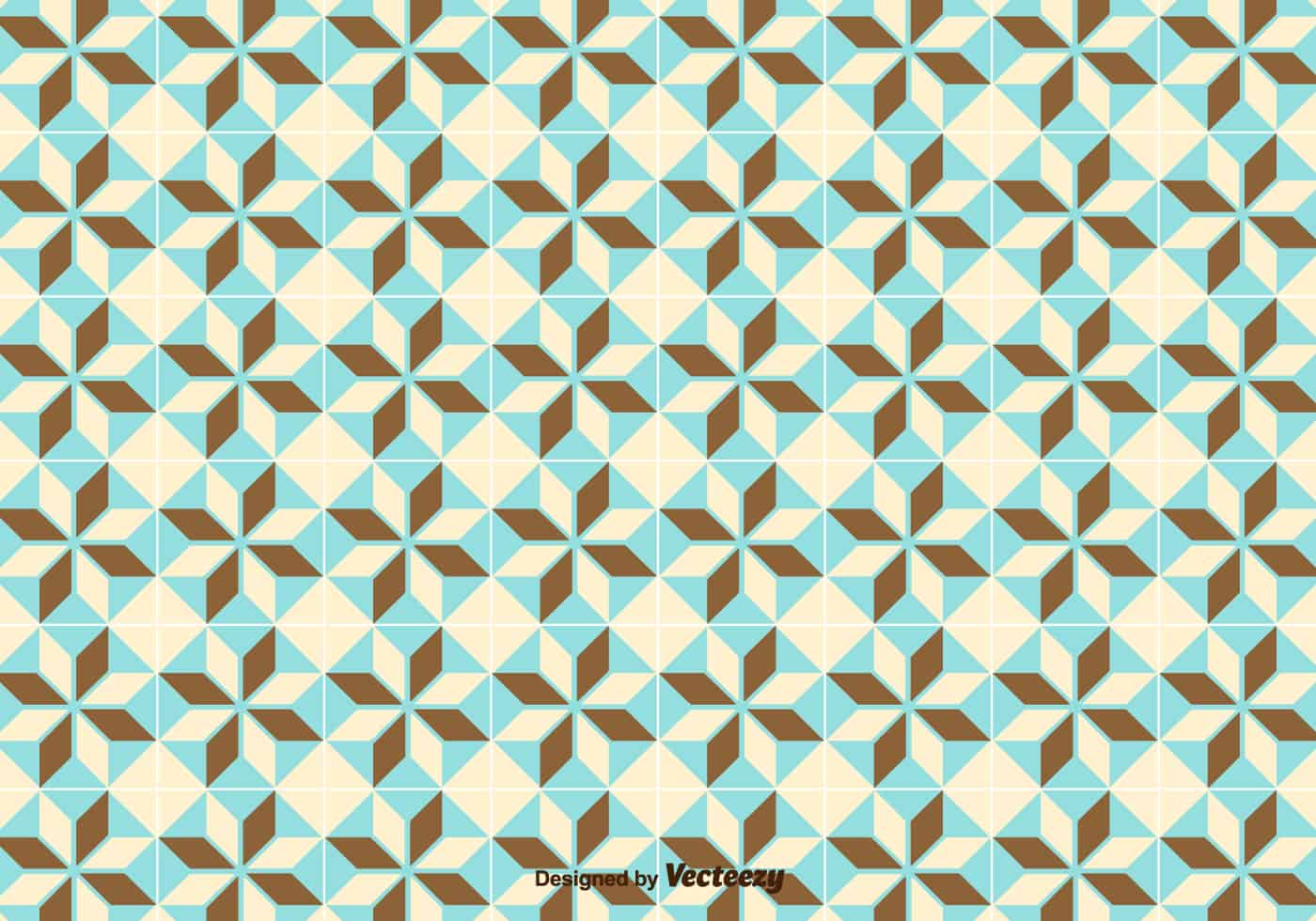 Simple Geometric Pattern/Tiles Pattern - Download Free Vector Art ...