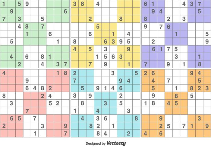Vector Sudoku Puzzle Game