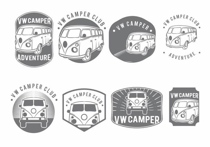VW Camper Badge Set