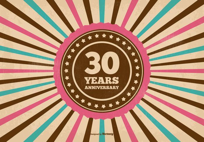 30 Year Anniversary Illustration