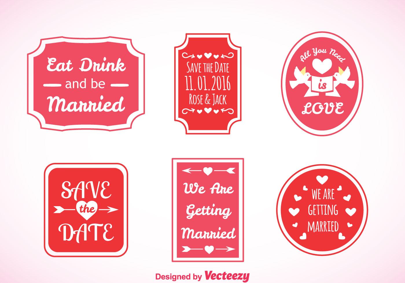 Wedding Pink Labels Vector - Download Free Vector Art, Stock ...