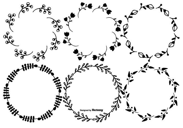 Set cornice disegnata a mano carina