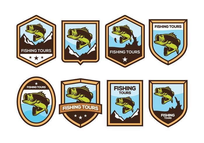 Vetor de emblema de peixe baixo grátis