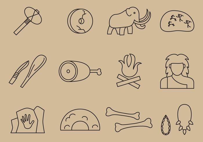 Icone della linea preistorica