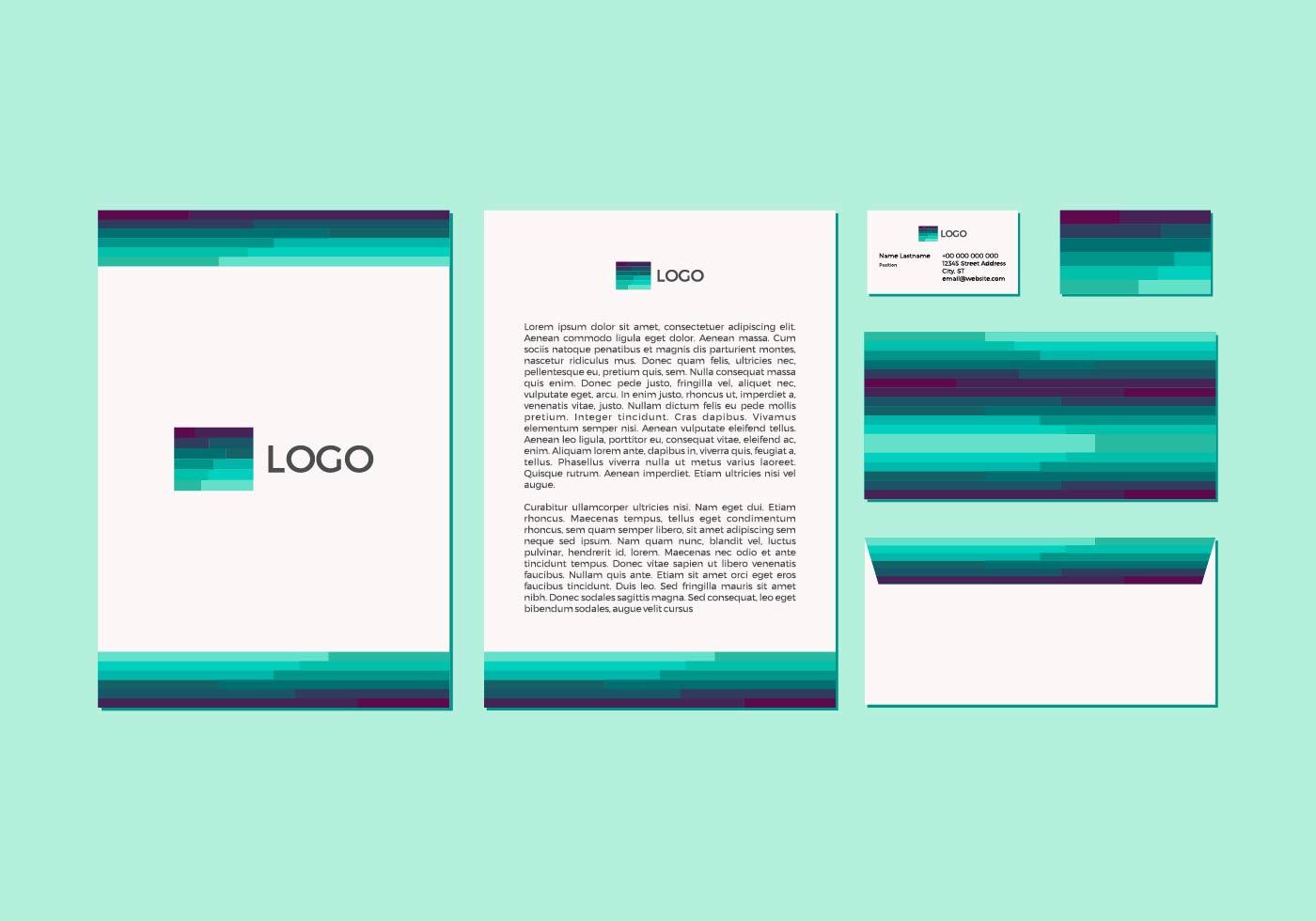 free emerald vector letterhead design